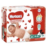 Huggies Essential Nappies Infant Size 2 (54 x 4)